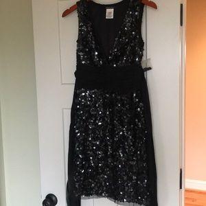 Boston Proper Classy Black Sequins Dress